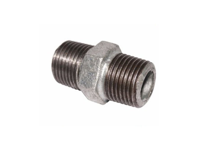 3 8 Fire Fighting Pipe Fittings , Seamless NPT Threaded Pipe Nipple