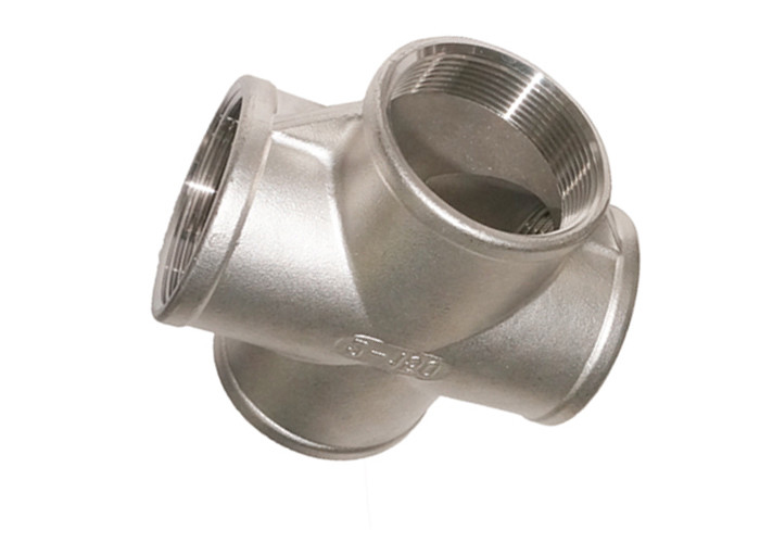 Casting 316 Stainless Steel Pipe Fittings SS Cross ANSI Standard Anti Corrosion