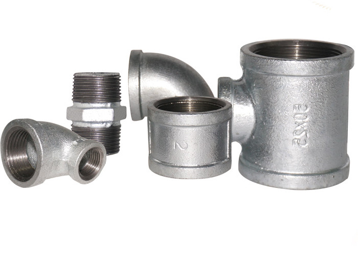 Zinc - Coated Hydraulic Pipe Fittings , Galvanized Cross Pipe Fitting Various Type