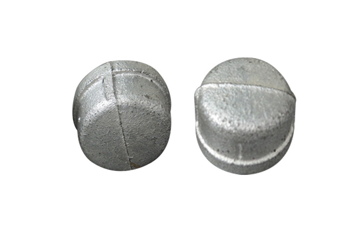 Hot / Cold Dipped Galvanized Pipe Cap , 2 3 8 Metal Pipe End Caps No Impurities